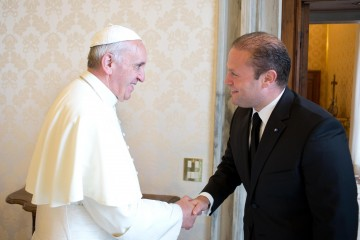 Pope Francis with Malta's President