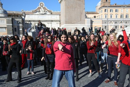 """One Billion Rising"" by Italian women in Rome"